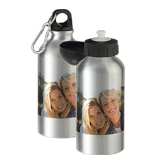Photo aluminum water bottle